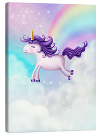 Canvas print  Unicorn with rainbow - Elena Schweitzer