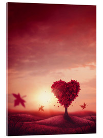 Acrylic glass  heart tree - Elena Schweitzer