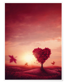 Poster heart tree