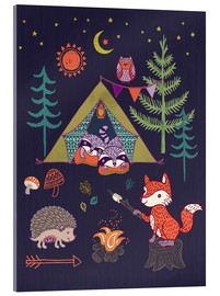 Acrylic glass  Camping Friends - Janet Broxon