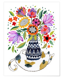 Poster  Calico Cat Bouquet - Janet Broxon