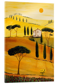 Acrylic print  Colored Tuscany - Christine Huwer