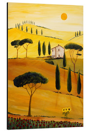 Aluminium print  Colored Tuscany - Christine Huwer