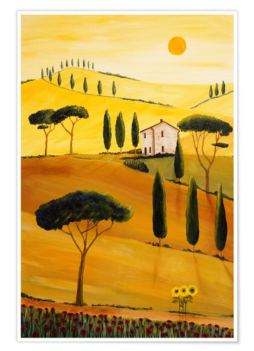 Premium poster Colored Tuscany