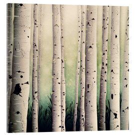 Acrylic glass  Birch wood - Sybille Sterk