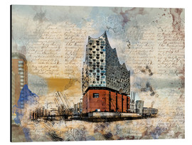 Aluminium print  The new Elbphilharmonie in Hamburg - Peter Roder