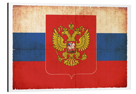 Aluminium print  Old flag of Russia with coat of arms in grunge style - Christian Müringer