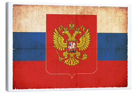 Canvas print  Old flag of Russia with coat of arms in grunge style - Christian Müringer
