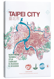 Canvas print  Taipei City Map - campus graphics