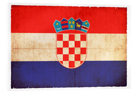 Acrylic print  Old flag of Croatia in grunge style - Christian Müringer