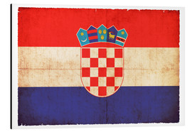 Aluminium print  Old flag of Croatia in grunge style - Christian Müringer