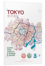 Foam board print  Tokyo city map - campus graphics