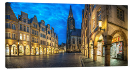 Canvas print  Munster Prinzipalmarkt Lamberti church - Daniel Heine