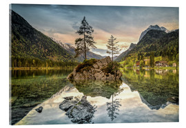 Acrylic print  Hintersee at an evening in spring - Sabine Wagner