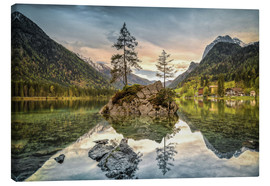 Canvas print  Hintersee at an evening in spring - Sabine Wagner