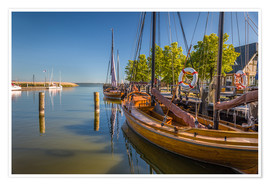 Premium poster  Historic sailing boat at the Baltic Sea (Germany) - Christian Müringer