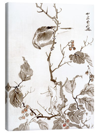 Canvas print  Bird and Frog - Kawanabe Kyosai