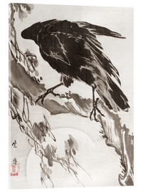 Acrylic print  Crow and the Moon - Kawanabe Kyosai