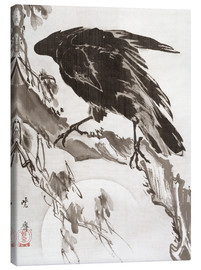 Canvas print  Crow and the Moon - Kawanabe Kyosai