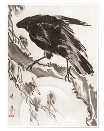 Premium poster Crow and the Moon
