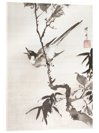 Acrylic print  Singing Bird on a Branch - Kawanabe Kyosai