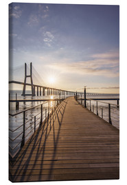 Canvas  Vasco da Gama Bridge Lisbon - Achim Thomae