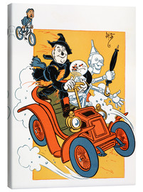 Canvas print  The scarecrow and tin-man driving very fast in car - Percy Alexander Leason