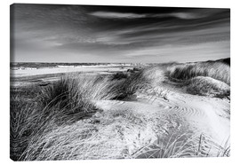 Canvas print  Baltic sea dunes (monochrome) - Sascha Kilmer