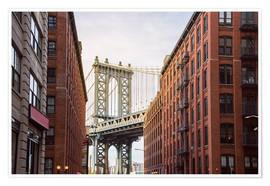 Premium poster Manhattan Bridge in New York