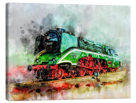 Canvas  Steam locomotive 18 201, the fastest steam locomotive in the world - Peter Roder