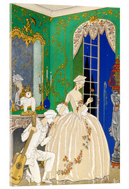 Acrylic print  A woman and musician - Georges Barbier