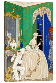 Canvas print  A woman and musician - Georges Barbier