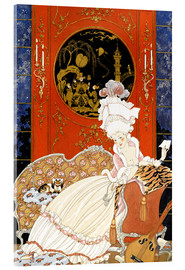 Acrylic print  A woman reading a letter - Georges Barbier