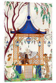 Acrylic print  A man and woman in a pavillion - Georges Barbier
