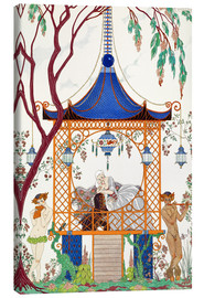 Canvas print  A man and woman in a pavillion - Georges Barbier