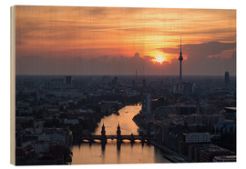 Wood print  Berlin Skyline - Filtergrafia