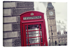 Canvas  London red telephone cell with Big Ben - rclassen
