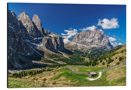 Alu-Dibond  Dolomite panorama Langkofel and Sellagruppe - Achim Thomae