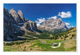 Poster  Dolomite panorama Langkofel and Sellagruppe - Achim Thomae