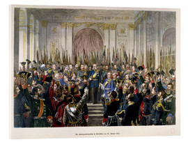 Acrylic print  The Proclamation of Wilhelm as Kaiser of the new German Reich - German School