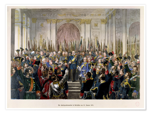 Premium poster The Proclamation of Wilhelm as Kaiser of the new German Reich