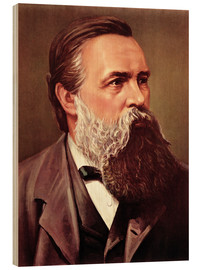 Wood print  Friedrich Engels - Chinese School