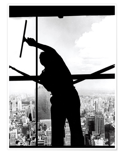 Premium poster Empire State Window Washer