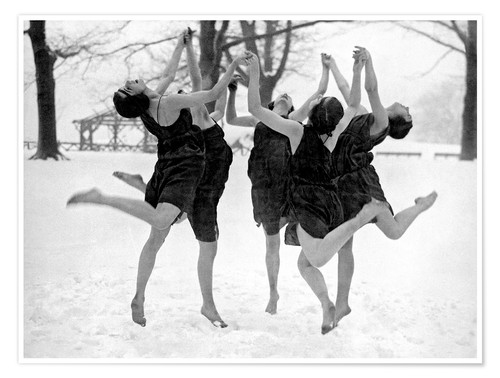 Premium poster Barefoot Dance In The Snow