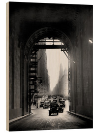 Wood print  Arch at Grand Central Station - historical
