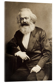 Acrylic glass  Karl Marx