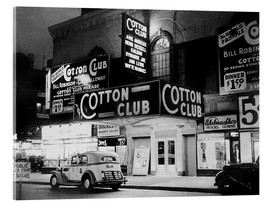 Acrylic glass  Cotton Club in Harlem, New York