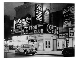 Foam board print  Cotton Club in Harlem, New York