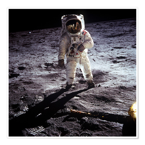 Premium poster 1st steps of human on Moon