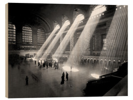Wood print  Historical Grand Central Station